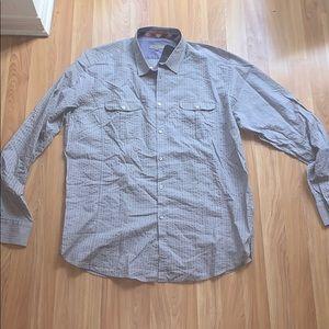 🌟 Ted Baker Grey Dress Shirt